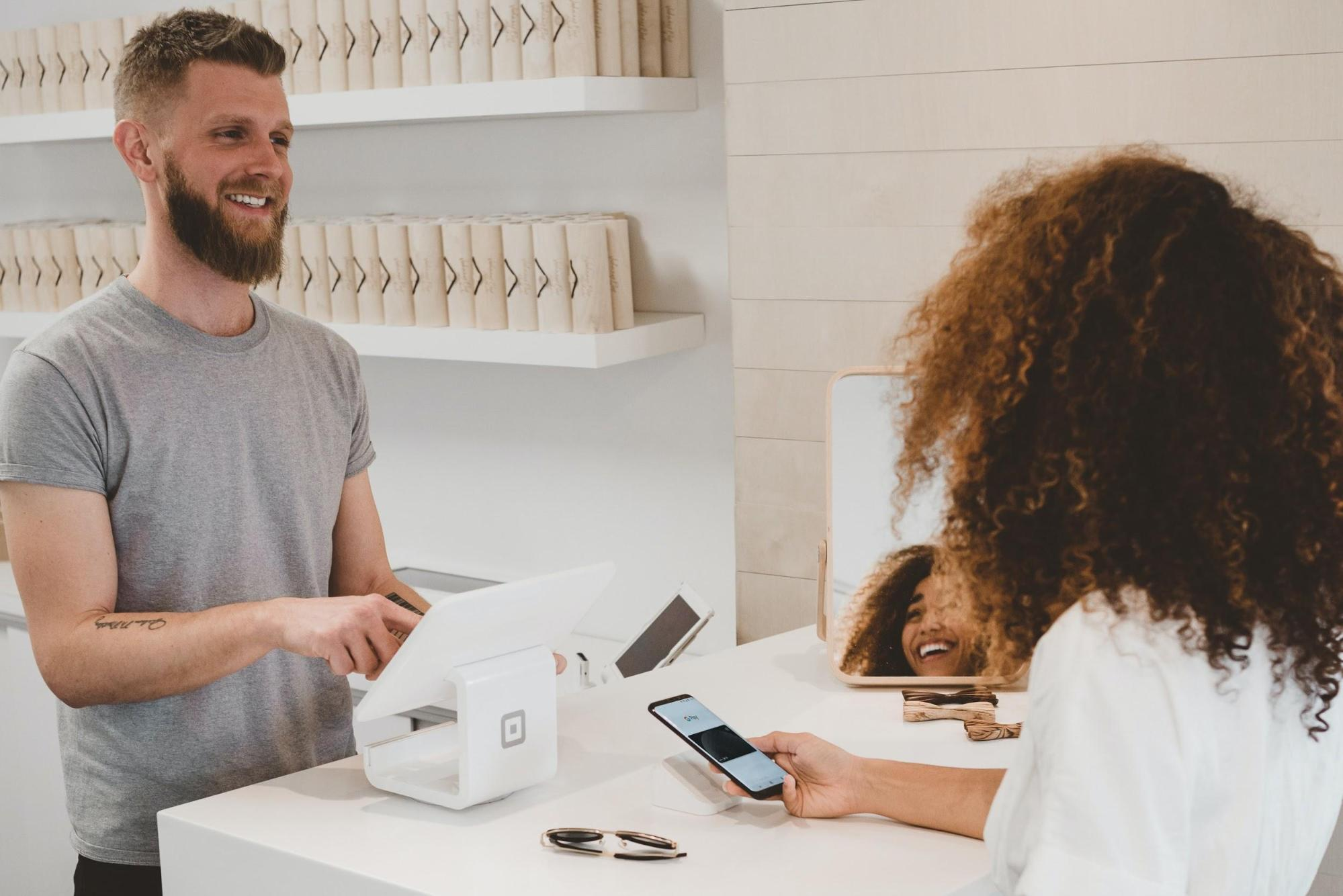 Friendly customer service interaction